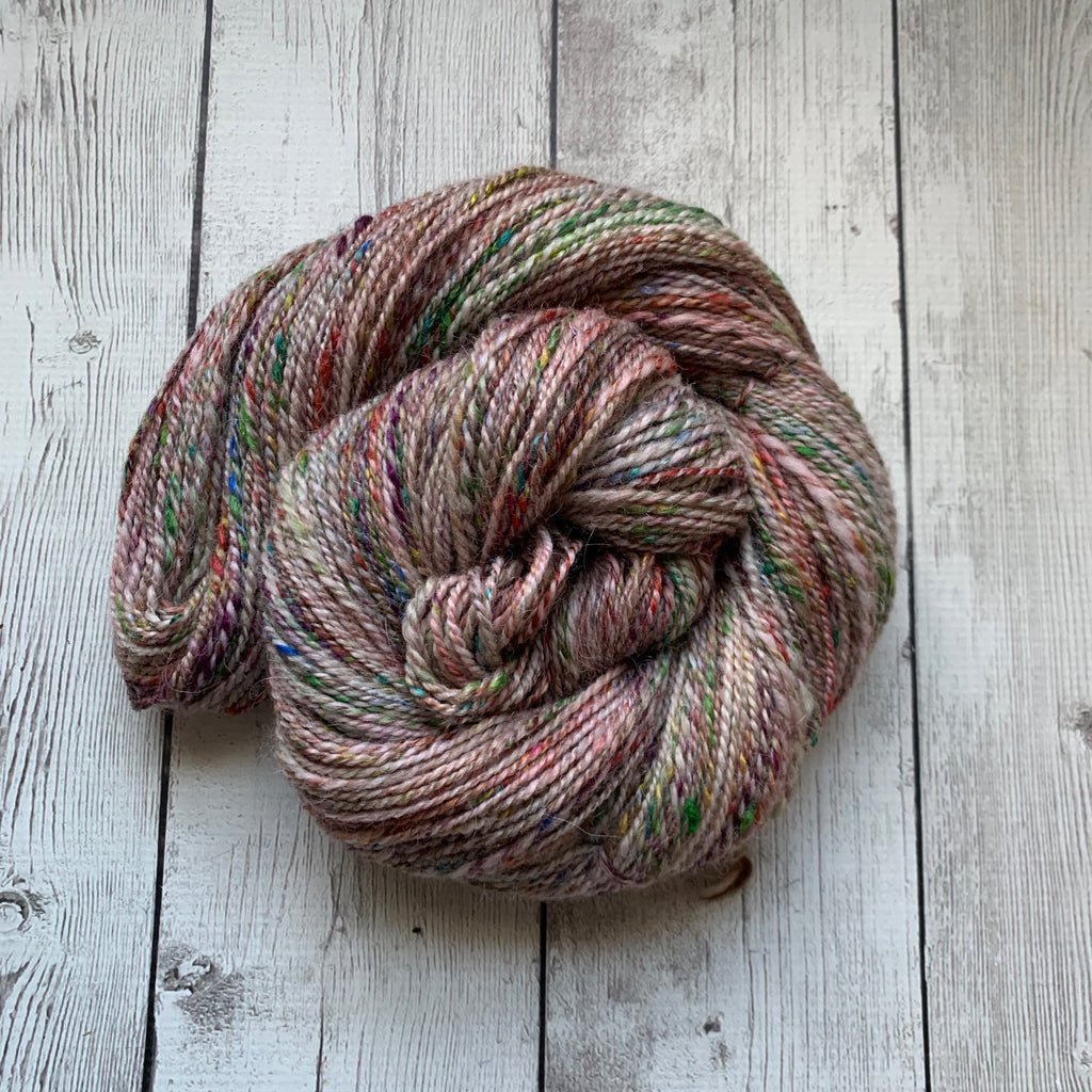 "DK - ""Happy Birthday"" Alpaca Merino Silks Sparkle   312 yds  4.1 oz - (2020-125)"