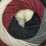 HOT CAKES - (worsted) - 003 - Grey Burgundy Mix