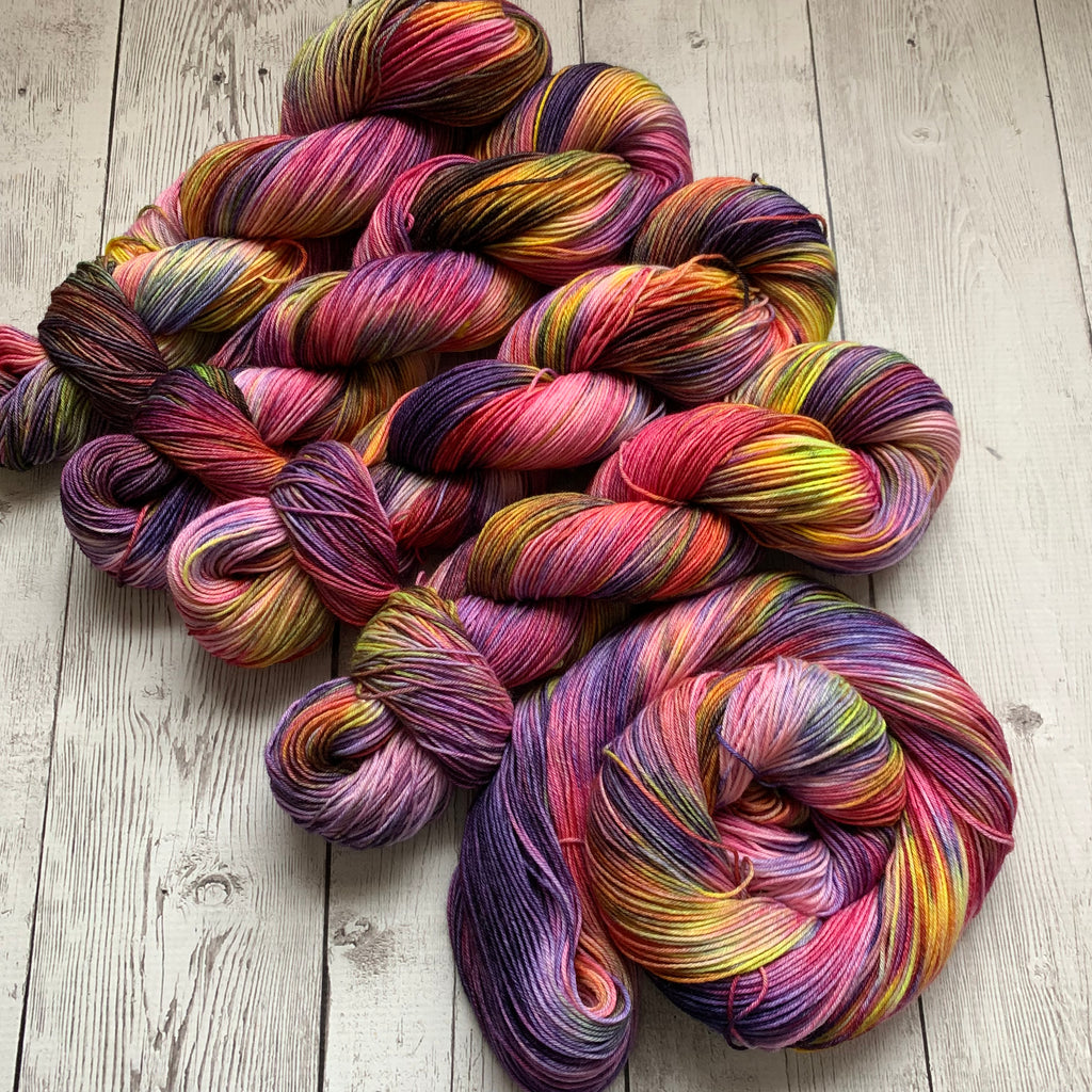 SOCK WEIGHT - GLAZED and CONFUSED 2™ Kettle Dyed Fing/Sock Hand Paint - 463 yds RTS (122619)