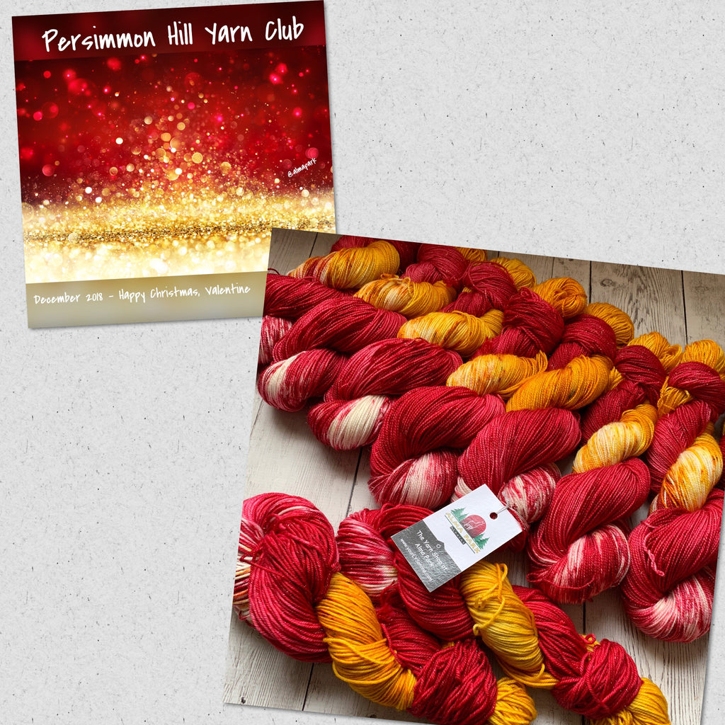 HAPPY CHRISTMAS, VALENTINE™ Persimmon Hill Yarn Speckled Fing/Sock Hand Paint - 438 yds RTS