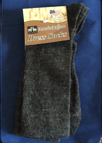 Alpaca Dress Socks (BLACK/Slate) - Made in the USA