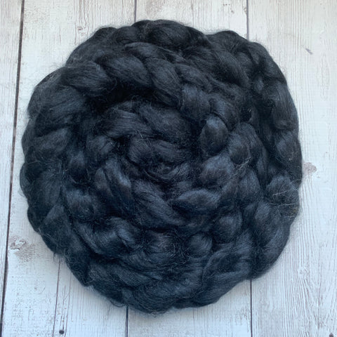 Black Dyed Tussah Silk 2oz