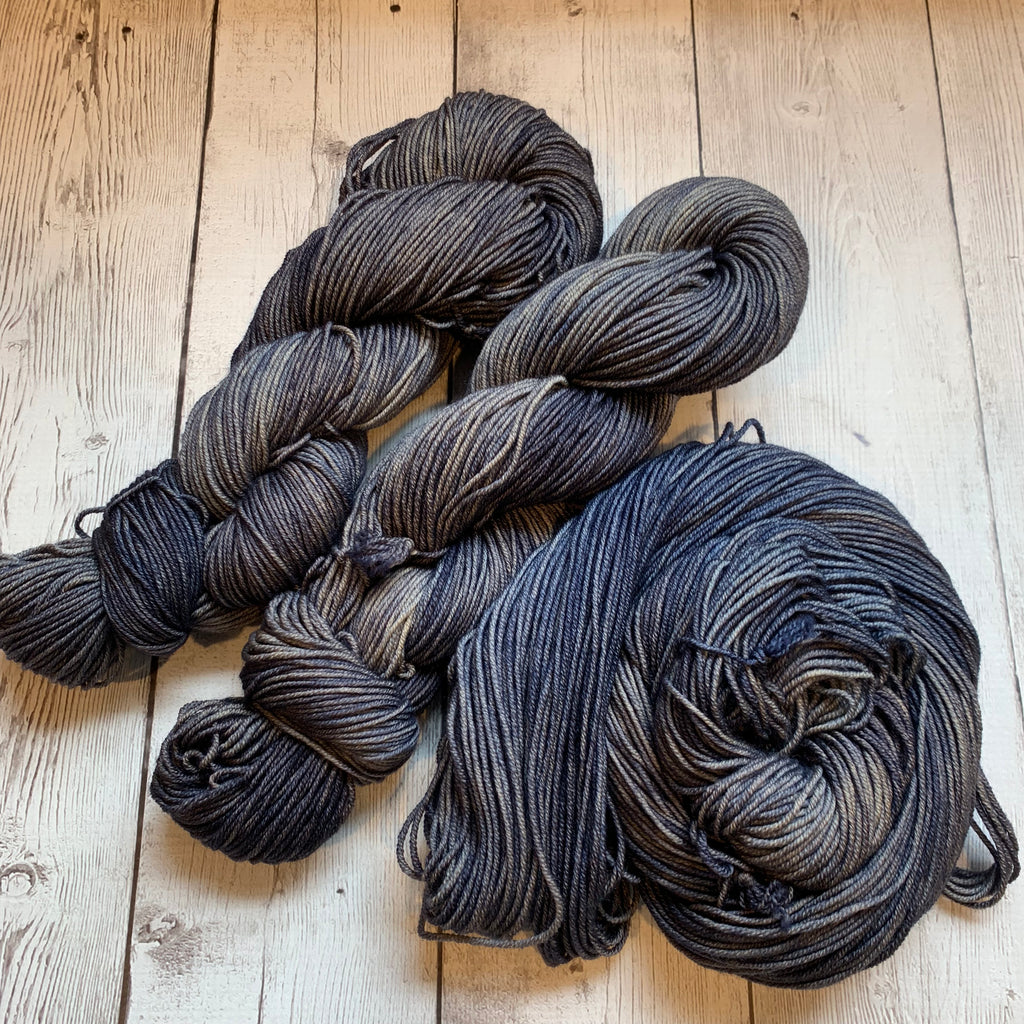 Doctor Who goes to Westeros™ ( SHAGGYDOG-DIREWOLF) Semi-Solid Kettle Dyed DK - 274 yds 3.5 oz RTS (809)