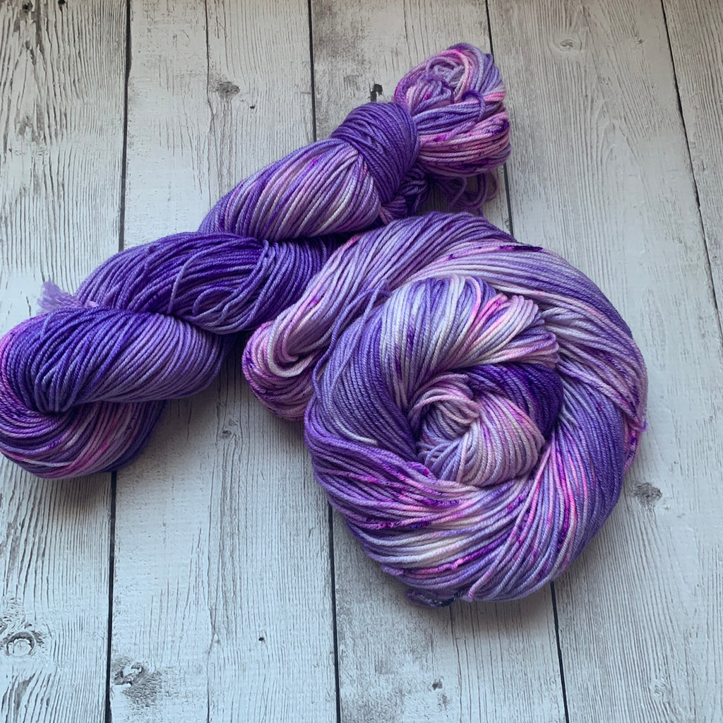 Twilight Snowfall™️ Kettle dyed Speckled DK Hand Paint - 274 yds RTS (225)