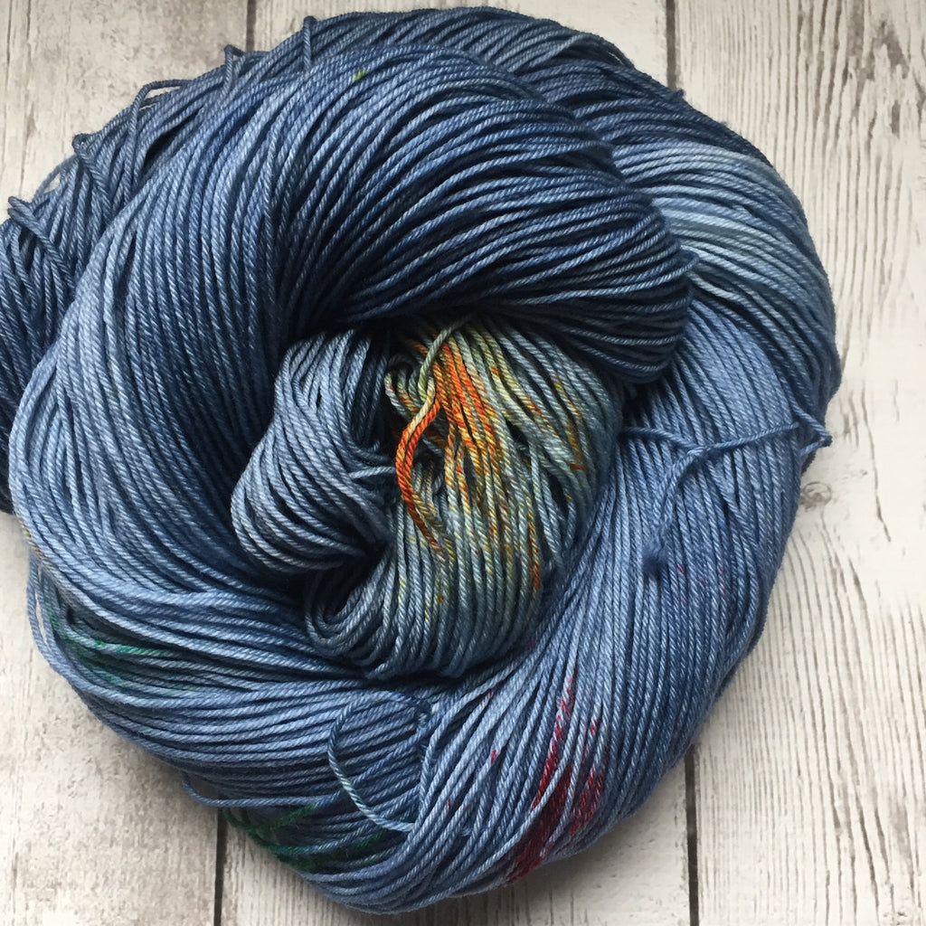 Grey Rainbow™ Speckled Fing/Sock Hand Paint - 463 yds RTS (924)