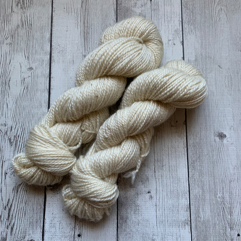 Worsted - Farm Yarn -  Kid Mohair/Wool  200 yds - white