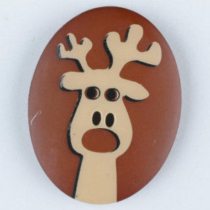 Reindeer Themed button - 23 mm