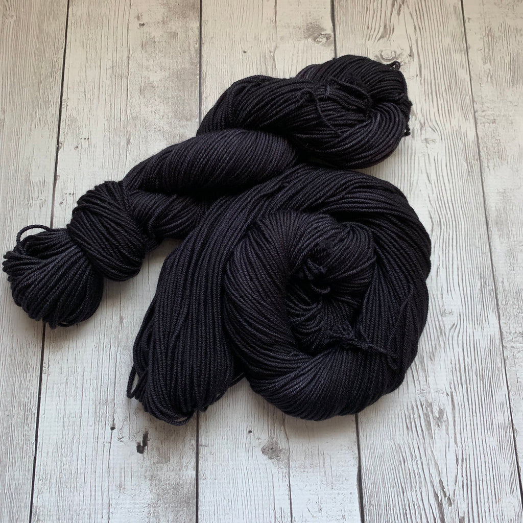 WORSTED - Doctor Who goes to Westeros™ ( NIGHT'S WATCH) Semi-Solid Kettle Dyed DK - 218 yds 3.5 oz RTS (1109)