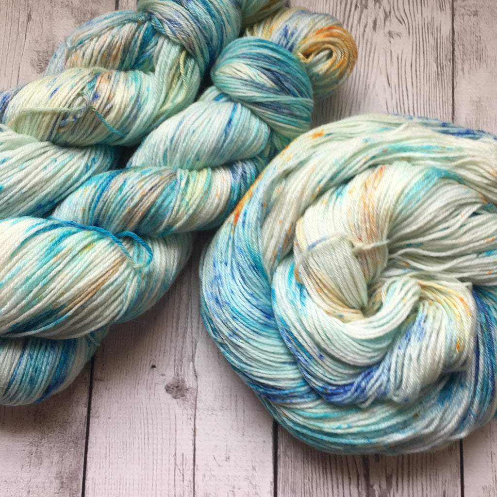 Sand & Sea at Sunset™ Speckled Fing/Sock Hand Paint - 430 yds RTS (808)