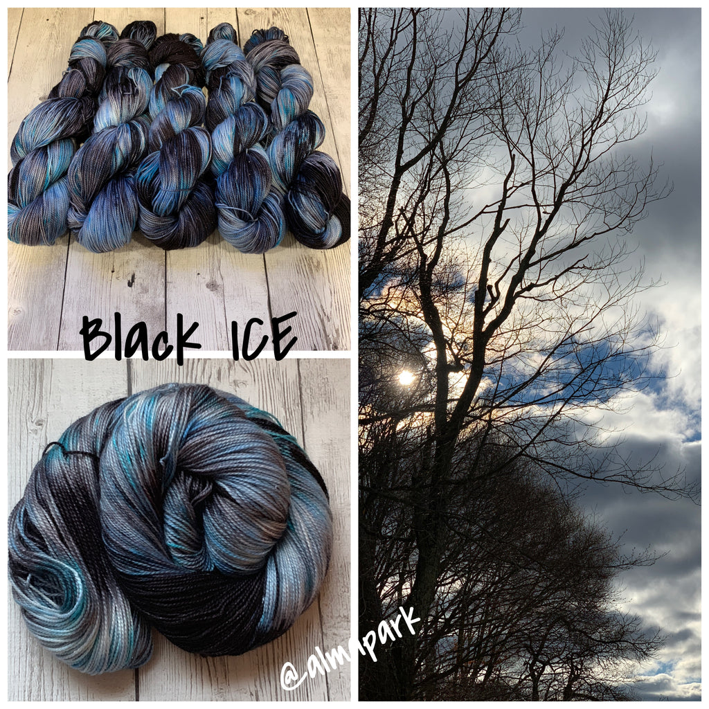 BLACK ICE™ Sparkle Sock- Fing/Sock Hand Painted 438 yds (1212)