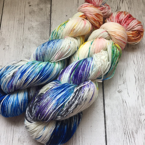 Mirrored Rainbow Nebula™ Speckled Fing/Sock Hand Paint - 463 yds RTS (808)