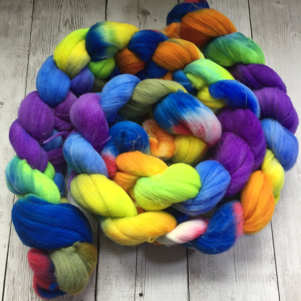COUNTY FAIR Hand Paint -  Rambouillet Wool Top -  4 oz