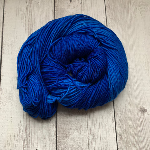Doctor Who goes to Westeros™ ( TARDIS) Semi-Solid Kettle Dyed DK - 274 yds 3.5 oz RTS (328)