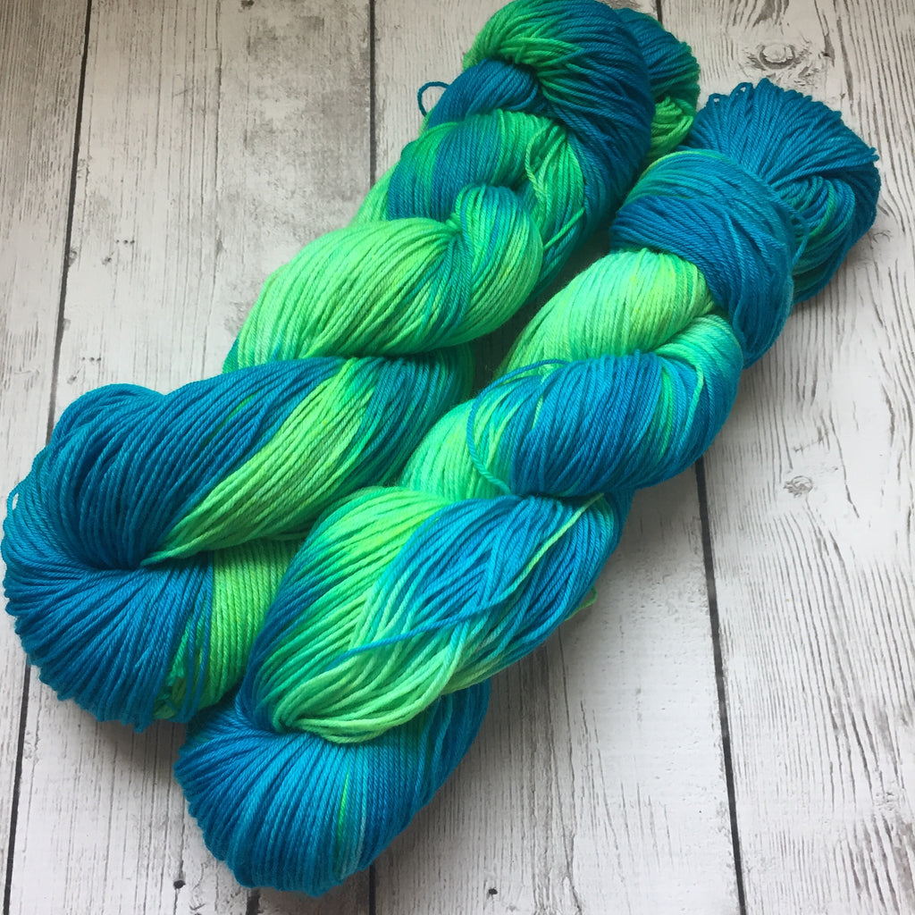 Psychedelic Seas™ hand painted Fing/Sock Hand Paint - 463 yds RTS (808)