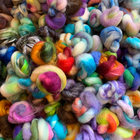 Copy of Bits and Bobs Handpaints - 1.5 oz - Spin Crazy Variegated Yarns Spontaneously