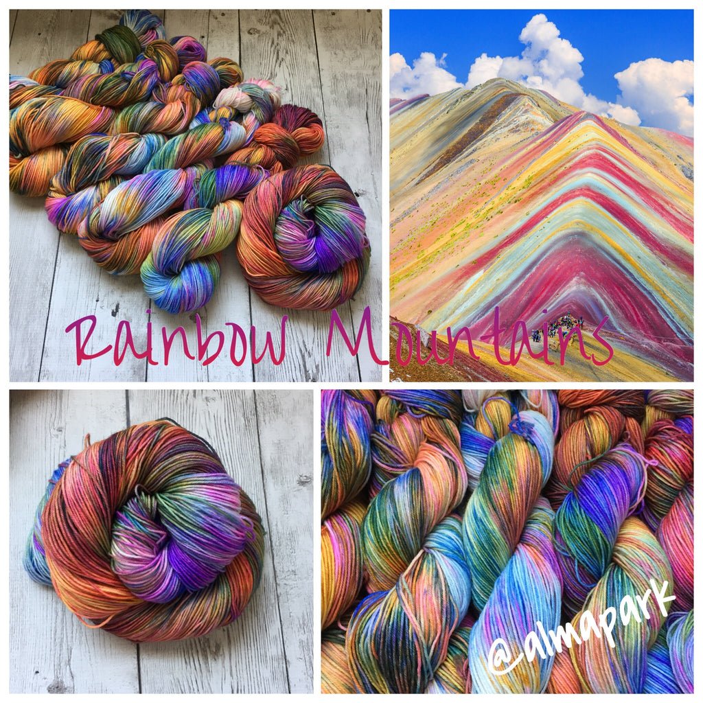 Rainbow Mountains™ Kettle Dyed Fing/Sock Hand Paint - 463 yds RTS (903)