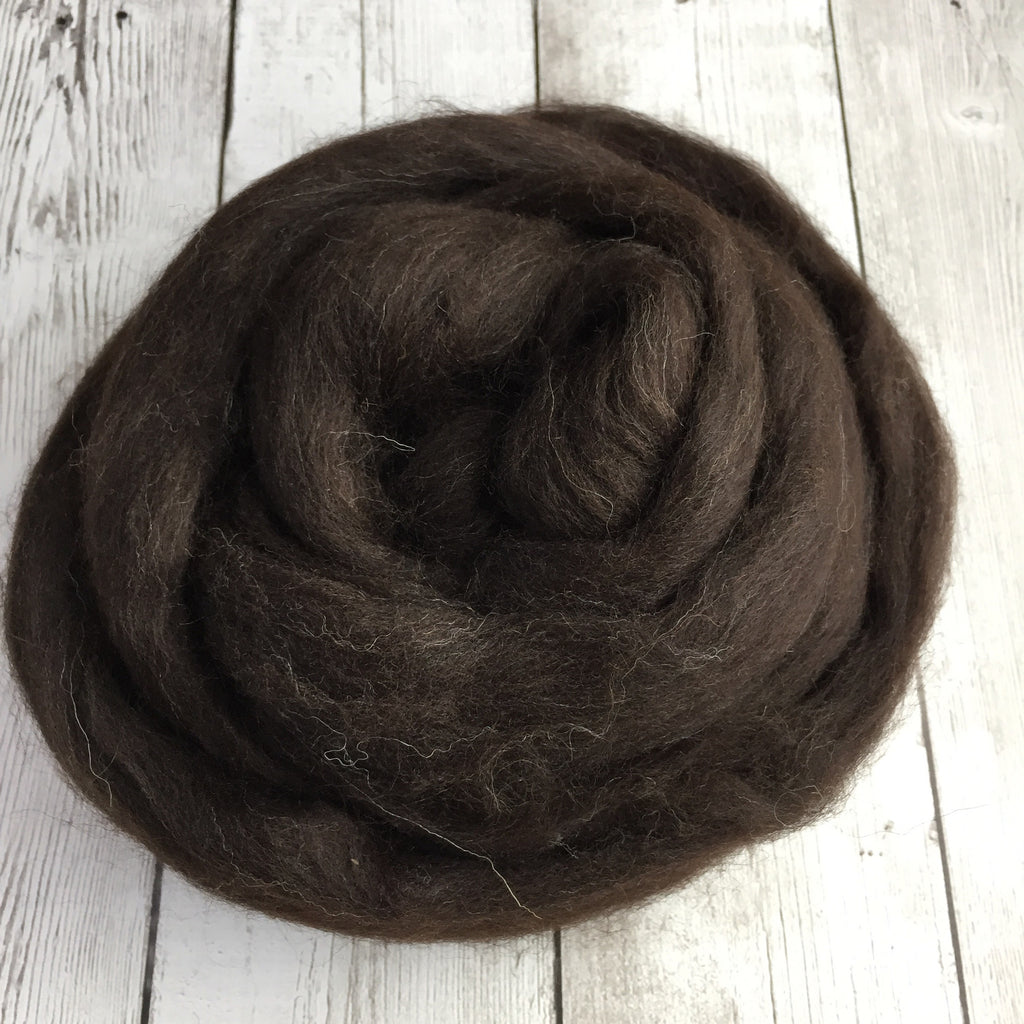 Shetland Wool - Brown/Black - 4 oz