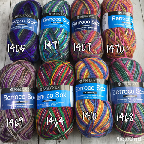 Berroco Sox (Fingering/sock weight) 440 yds 3.5 oz