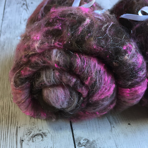 Bond Wool Soffsilk Silk Noil Sparkle - Double OH Pink (textured)  - 2 oz
