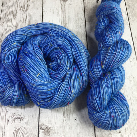 Confetti™ BLUE - semi-solid kettle dyed - (C17) Fing/Sock Donegal  438  yds RTS