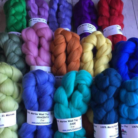 Solid color Merino (Pick your color) 21 and 23 microns OVER 25 colors