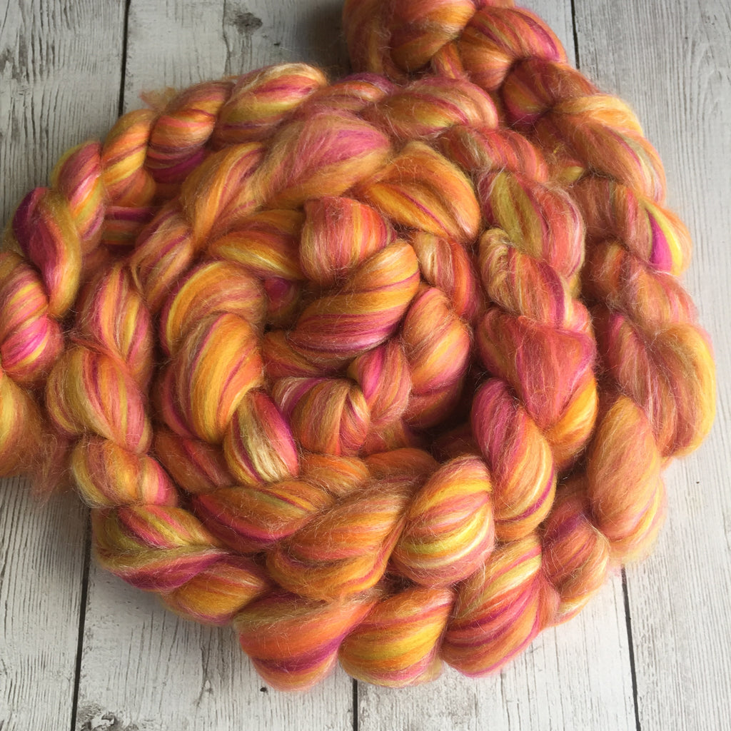 Multi Colored Merino/Tussah Silk (70/30) - DESERT FLOWERS 2 or 4 oz