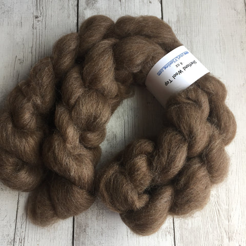 Shetland Wool - Brown - 4 ounces