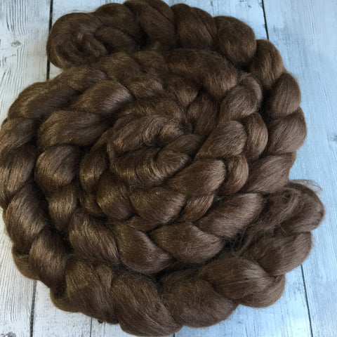 Alpaca/Silk (70/30) - BROWN - 2 or 4 oz