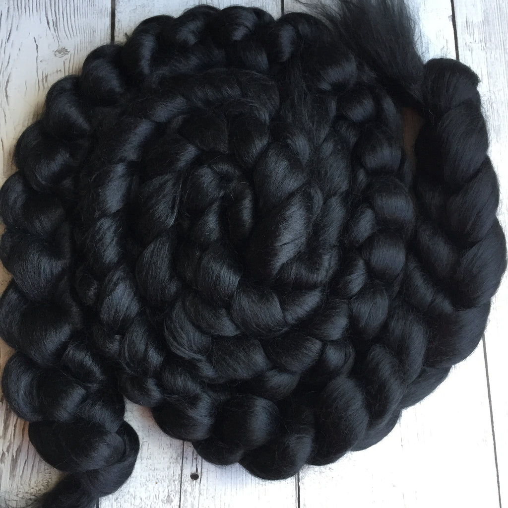 Alpaca/Silk (70/30) - BLACK - 2 or 4 oz