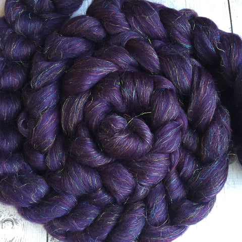 "Merino/Sparkle Top 70/30 ""ROYAL AMETHYST"" 2 or 4 oz"