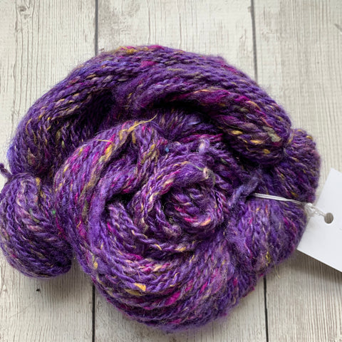 WORSTED - Coopworth Wool Silk Sparkle 50 yds  2.4 oz - (10101)