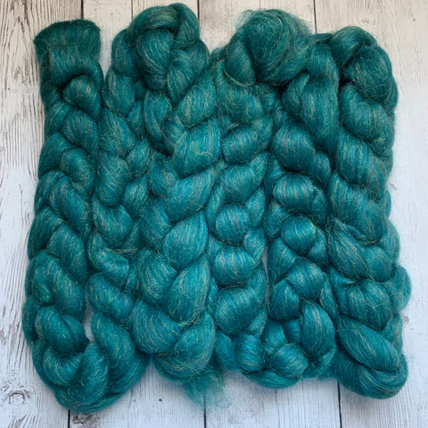 "Merino/Sparkle Top 70/30 ""OCEAN EMERALD"" 2 or 4 oz"
