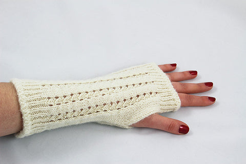 Wrist Warmers - Pointelle - 2 colors 1 size