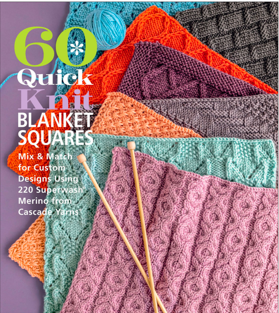 CASCADE Pattern Book - 60 Quick Knit Blanket Squares