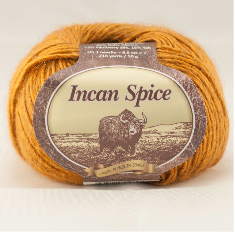 INCAN SPICE - (Fing/Sock Weight) Alpaca Silk Yak Merino - Choose from 8 Colors