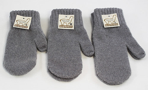 Mittens - 3 sizes - dyed grey