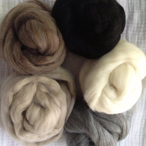 AYC - Baby Alpaca Top -  Natural - 5 colors avail - 2 oz or 5 oz sampler