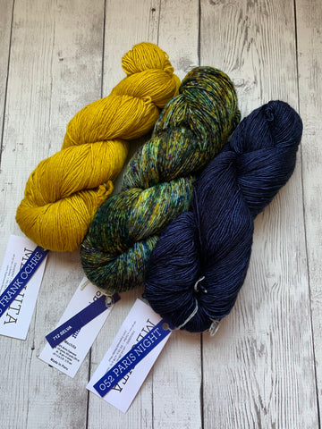 Malabrigo Mechita -  3 skein fingering shawl kit (KIT07)
