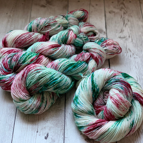 BLUE CHRISTMAS™ Speckled Fing/Sock Hand Paint - 463 yds RTS (1208)