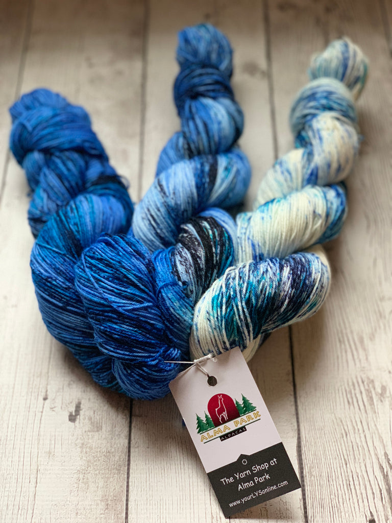 Fades Kit™ (Blues) Speckled/Kettle dyed Fing/Sock - 1389 yds RTS (110)