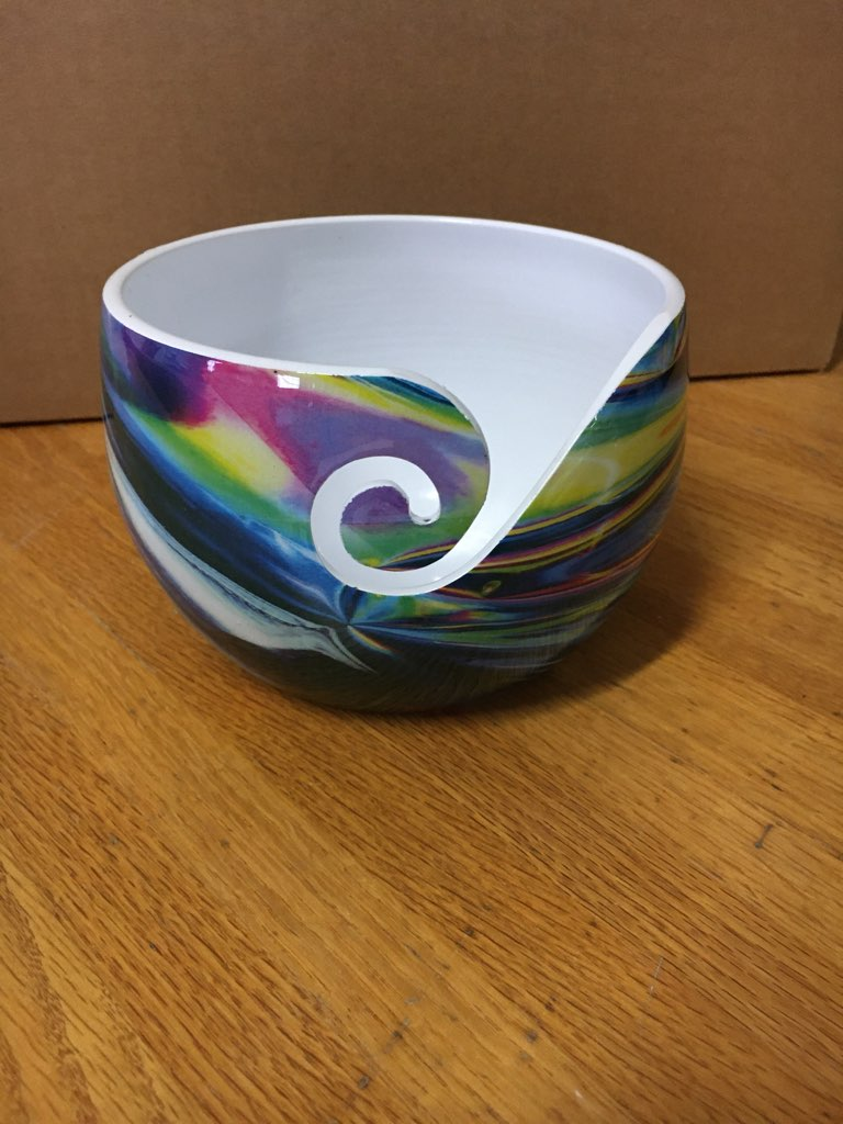 Rainbow Aluminum Yarn Bowl