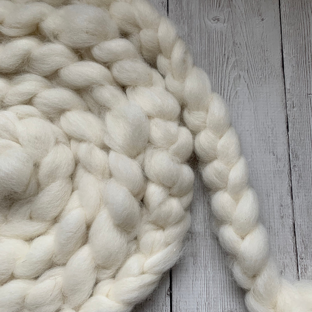 FARM ROVING - Alpaca / BFL  - Roving from SNOWBALL - White