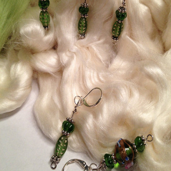 Knit Bling Removable Stitch Markers (Green) Set Of 5