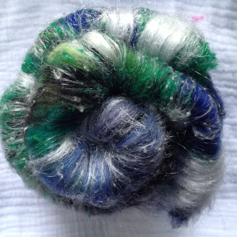 Baby Alpaca/Mer/Silk/Spark -Maleficent- (Textured) - 2 oz