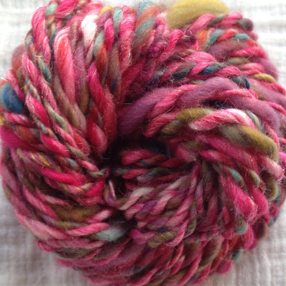 Hand Spun Pink All Colors 1.0 oz -  20 Yds - Worsted