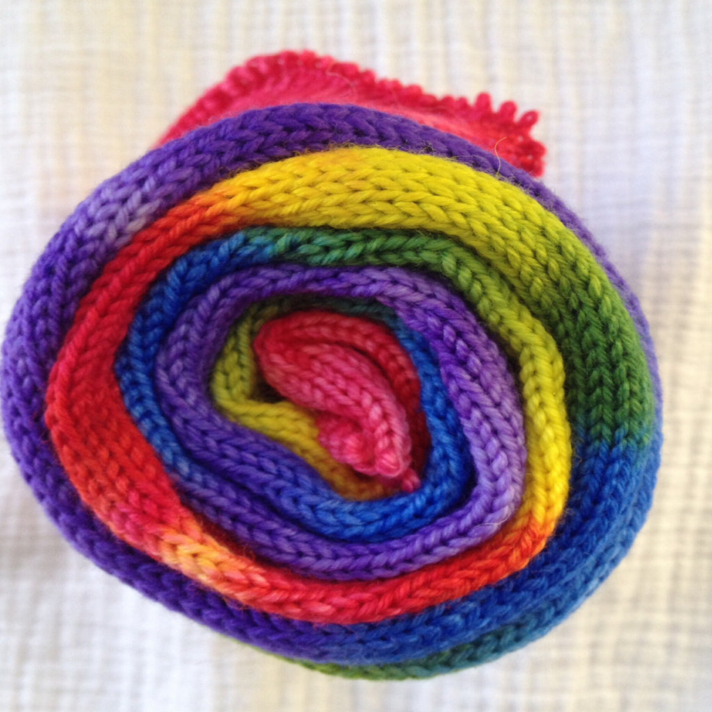 Sock Blank  - Rainbow - Fing/Sock 462 yds RTS