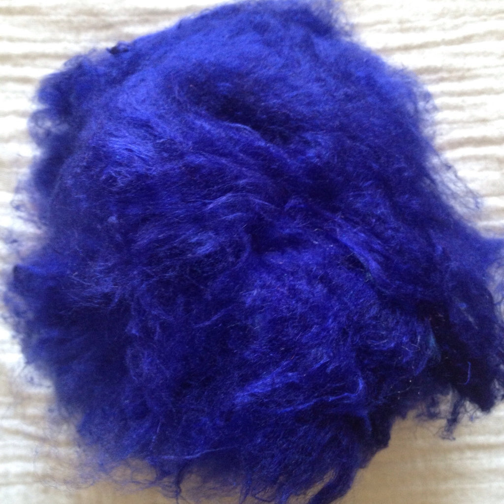 Soffsilk™ -ROYAL NAVY BLUE - Premium Carded Silk Waste