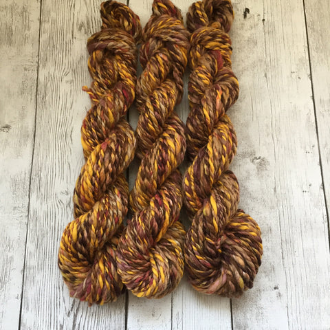 BULKY - Rusty Autumn - Baby Alpaca/Merino/Silk/Sparkle 120 yds avail - 3 skeins - (HS0157)