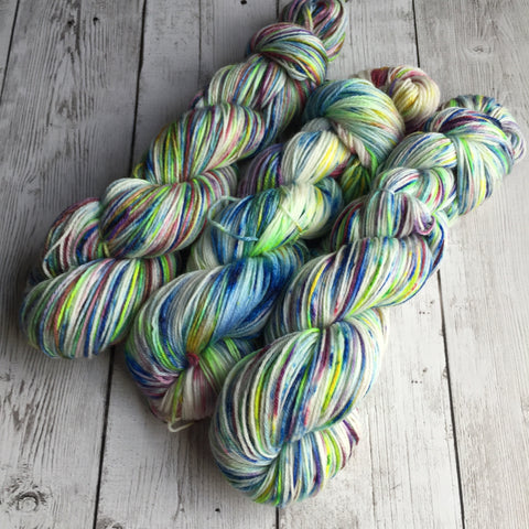 Pixie-Stix™-Fing/Sock Hand Painted - 430 yds Merino/Bamboo  RTS (201607005)