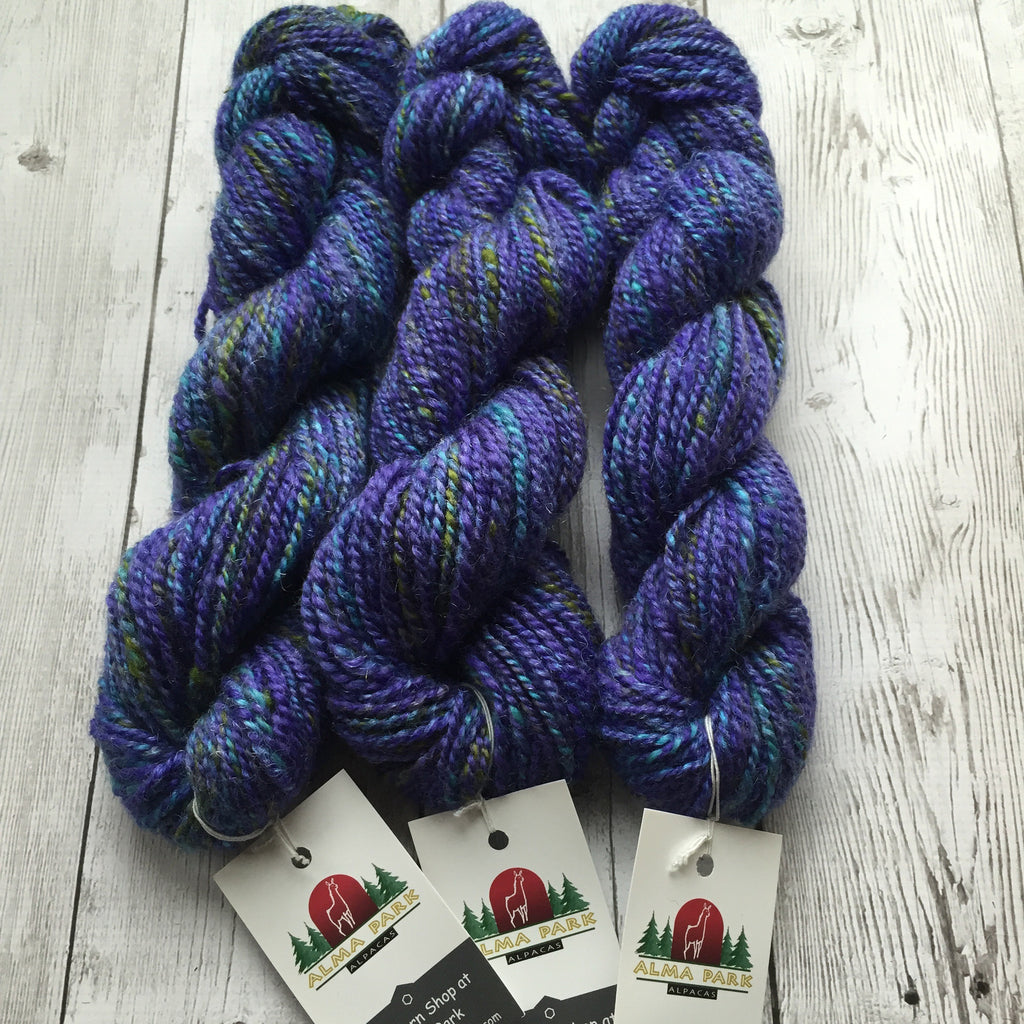 WORSTED - Coopworth Wool/Sparkle - 3 skeins (270 yds) available (HS0120)